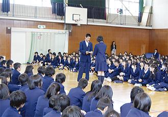 奈良中生・あかね台中生に分かれて開催
