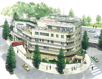 複合施設の概要(■構造:鉄筋コンクリート造■規模:地下1階、地上5階■敷地面積:約1,164平方メートル■施設内容:地下1階(エントランスなど)1階〜3階(消防出張所・消防職員待機宿舎)4階(保育所)5階(地域子育て支援拠点『ラフール』)
