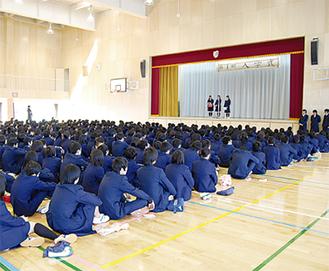 4月1日の開校式典準備