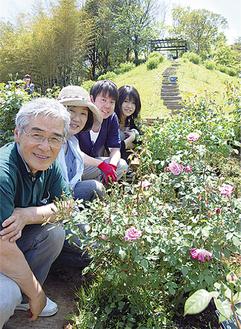 荏子田太陽公園でボランティア活動を行っているメンバー