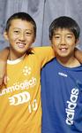 チームを牽引する藤田一途選手(左)と本山鐘現選手