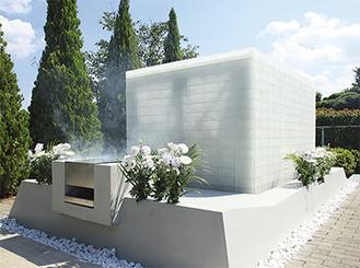 美しいガラスレンガで造られた永代供養墓地「天空」