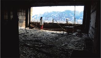 岩手県大槌町の小学校教室 撮影:新藤健一