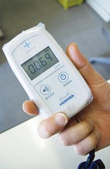 貸し出しを行っているシンチレーション式の放射線量測定機器