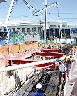 全長12・7m、外径2・4mのタンクが設置される