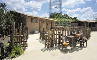 先行公開されるアフリカンヴィレッジ