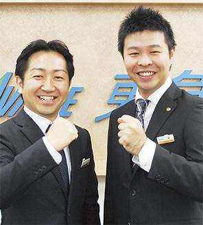 毛塚副センター長(左)と篠さん