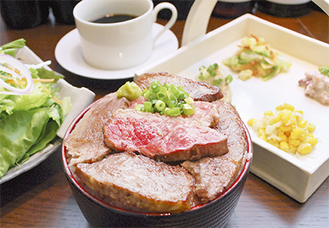 黒毛和牛ステーキ丼御膳(ランチ1,300円)