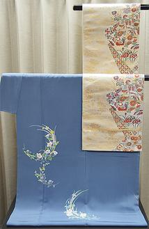 加賀友禅の訪問着と袋帯