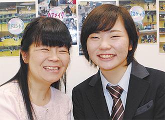 尾崎さんとお母さん