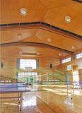 3年以内に天井の改修が予定されている藤が丘地区センターの体育室
