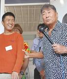 井組社長(左)と毒蝮さん