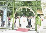 大茅の輪=神社提供