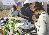 「ビオラの畑」で収穫された野菜を販売