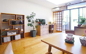 明るく開放感のある居室