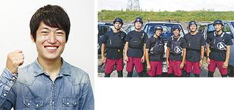◀飯田さん ▲TAMAのメンバー
