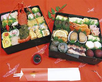 「豪華二段重のおせち料理」4人前 45,000円(税込)