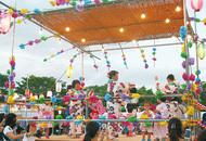 奈良山公園で納涼大会