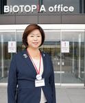 小川裕子代表取締役社長。2008年に就任。生まれも育ちも青葉区という