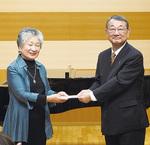 左から三村代表、佐川理事長