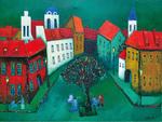 リトアニアの作品「街」(一例)