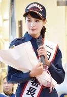 1日消防署長に関水さん