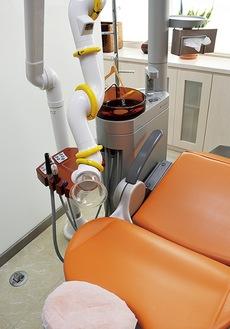 歯を削る際の粉塵を吸い取る口腔外バキューム