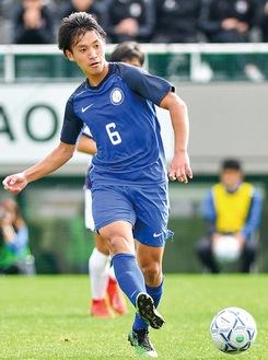 プロサッカー選手の夢を叶えた橘田選手=同大サッカー部提供