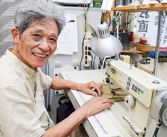 優しい縫製職人、奥山さん