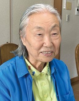 笑顔の原田さんだが、取材中には涙ぐむ場面も