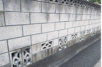 ブロック塀のイメージ