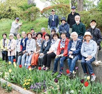 花ボランティアのメンバー