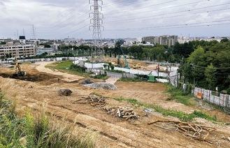 解体工事中の現地(北部から撮影)