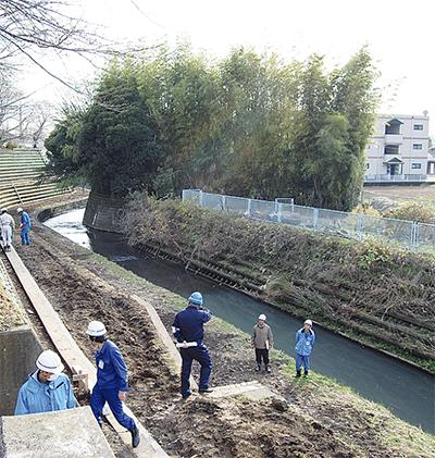 黒須田川の遊歩道、延伸進む