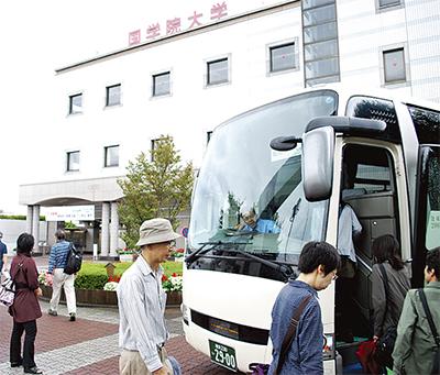 区内6大学行きバス初出発