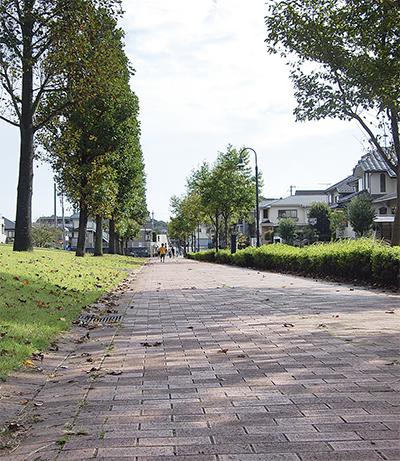 秋空の下、街歩き