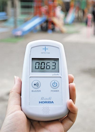 幼稚園に放射線測定器