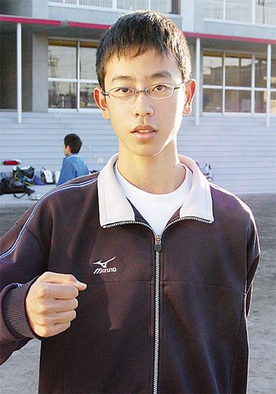県代表に岡田健(あかね台中3年生)選手