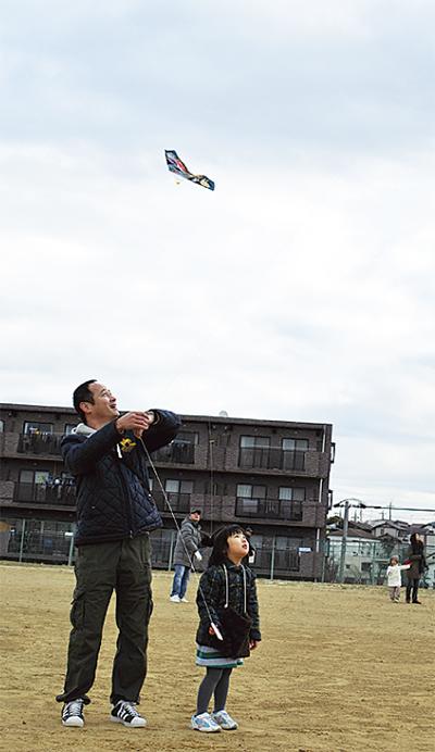 凧揚げで地域交流