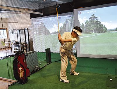 暑い夏は室内ゴルフ