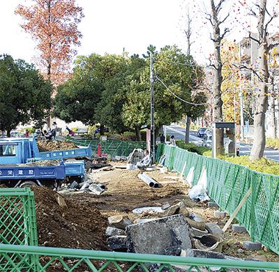 排水溝整備で冠水対策