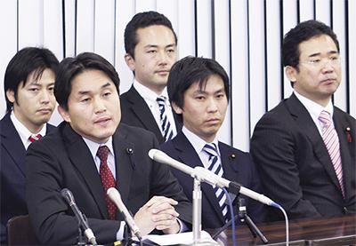 区内2議員、江田氏に同調