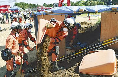 緑山で土砂災害訓練