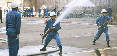 青葉消防団が合同訓練