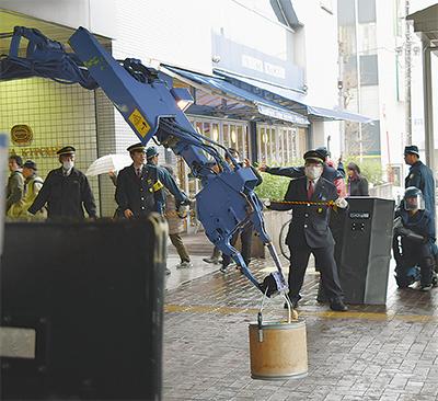 青葉台駅でテロ対策訓練