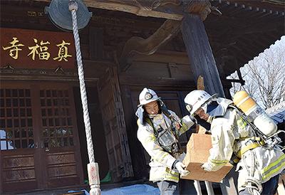 真福寺で防火訓練