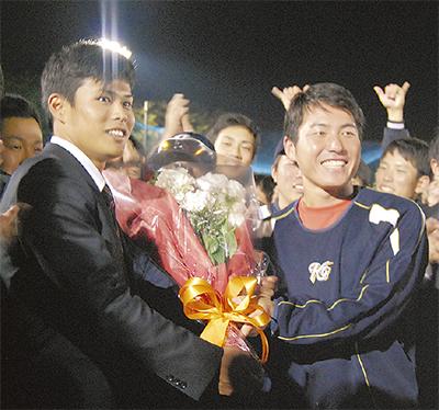 山崎選手、3位で東北楽天へ
