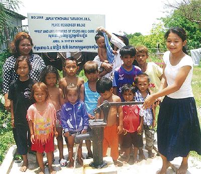 カンボジアに井戸