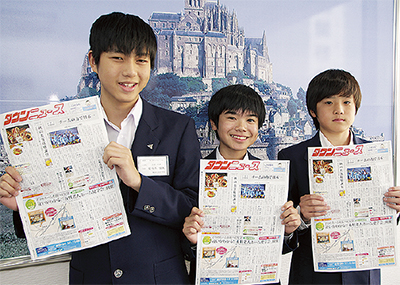 左から佐々木君、藤田君、小野君
