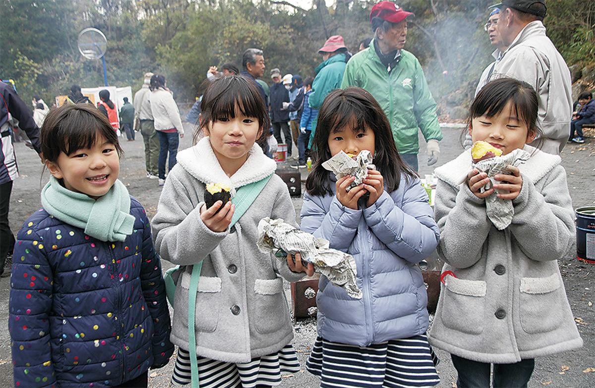 桜台で焼き芋会